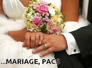Vous organisez votre mariage ou PACS